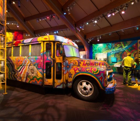 Peace and Love at the Rock n Roll Hall of Fame for The Woodstock 50th Anniversary Exhibit